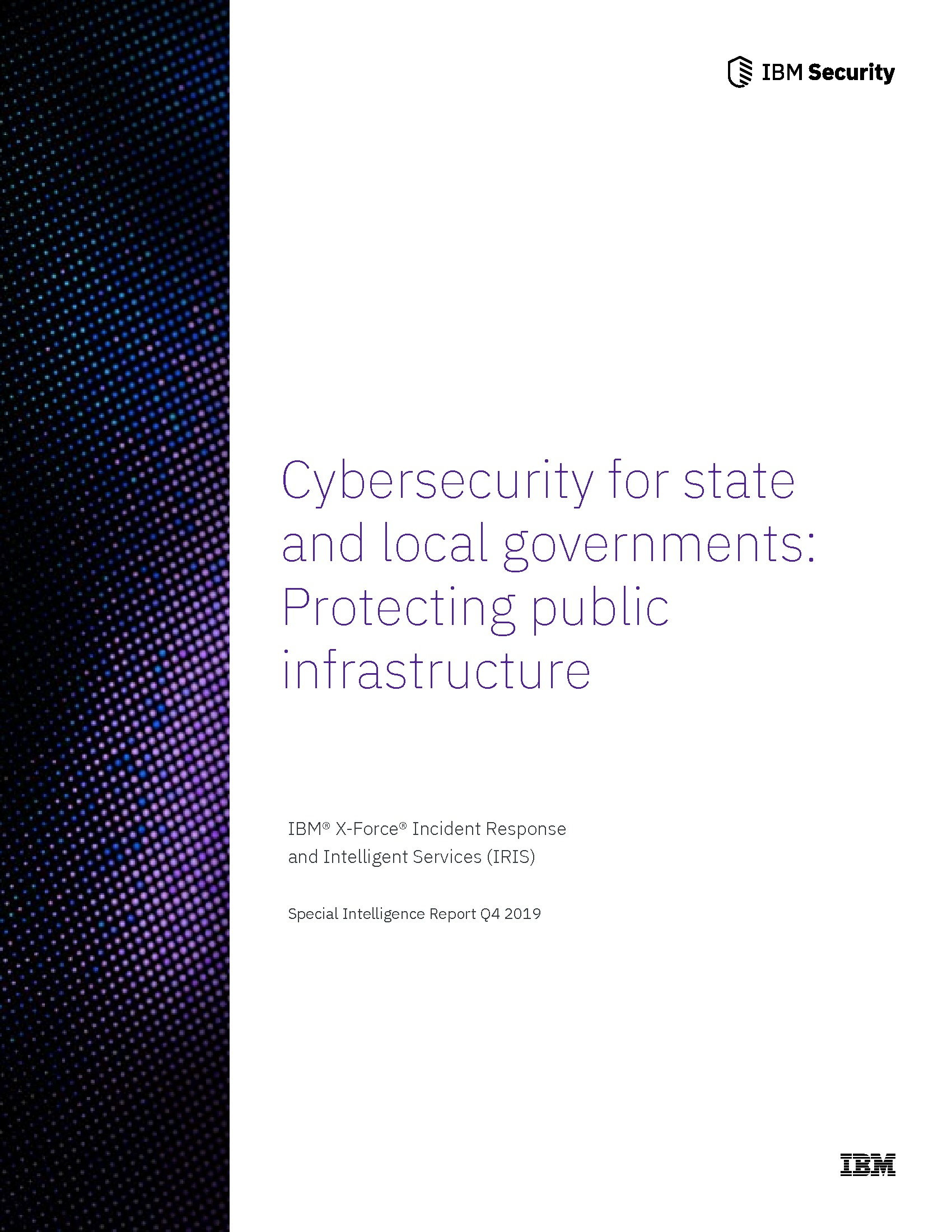 Cybersecurity for State and Local Governments: Protecting Public Infrastructure