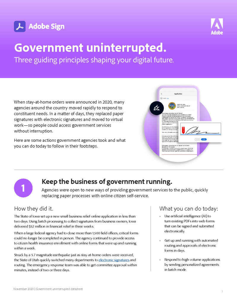 Government uninterrupted.