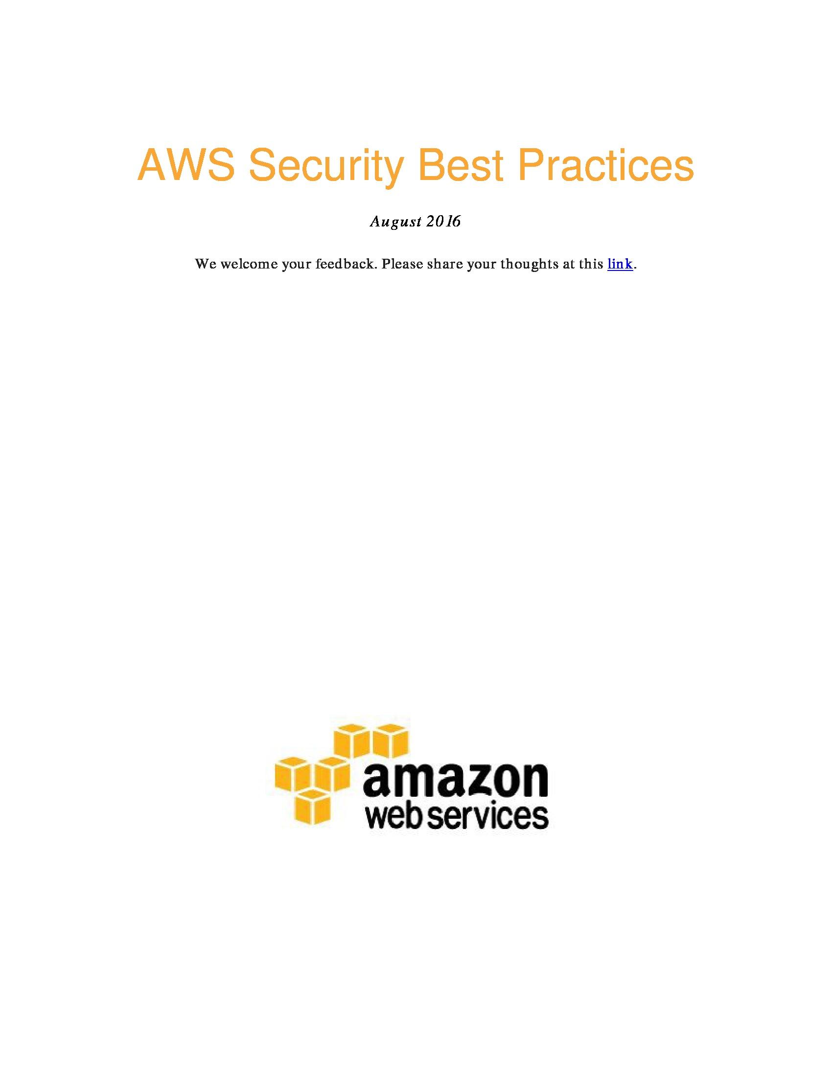 GT - Amazon - 2019 Microsite - AWS Security Best Practices
