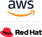 Amazon Web Services Red Hat Logo-140RGB