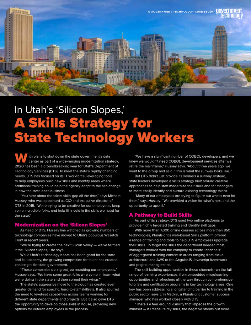A Skills Strategy for State Technology Workers