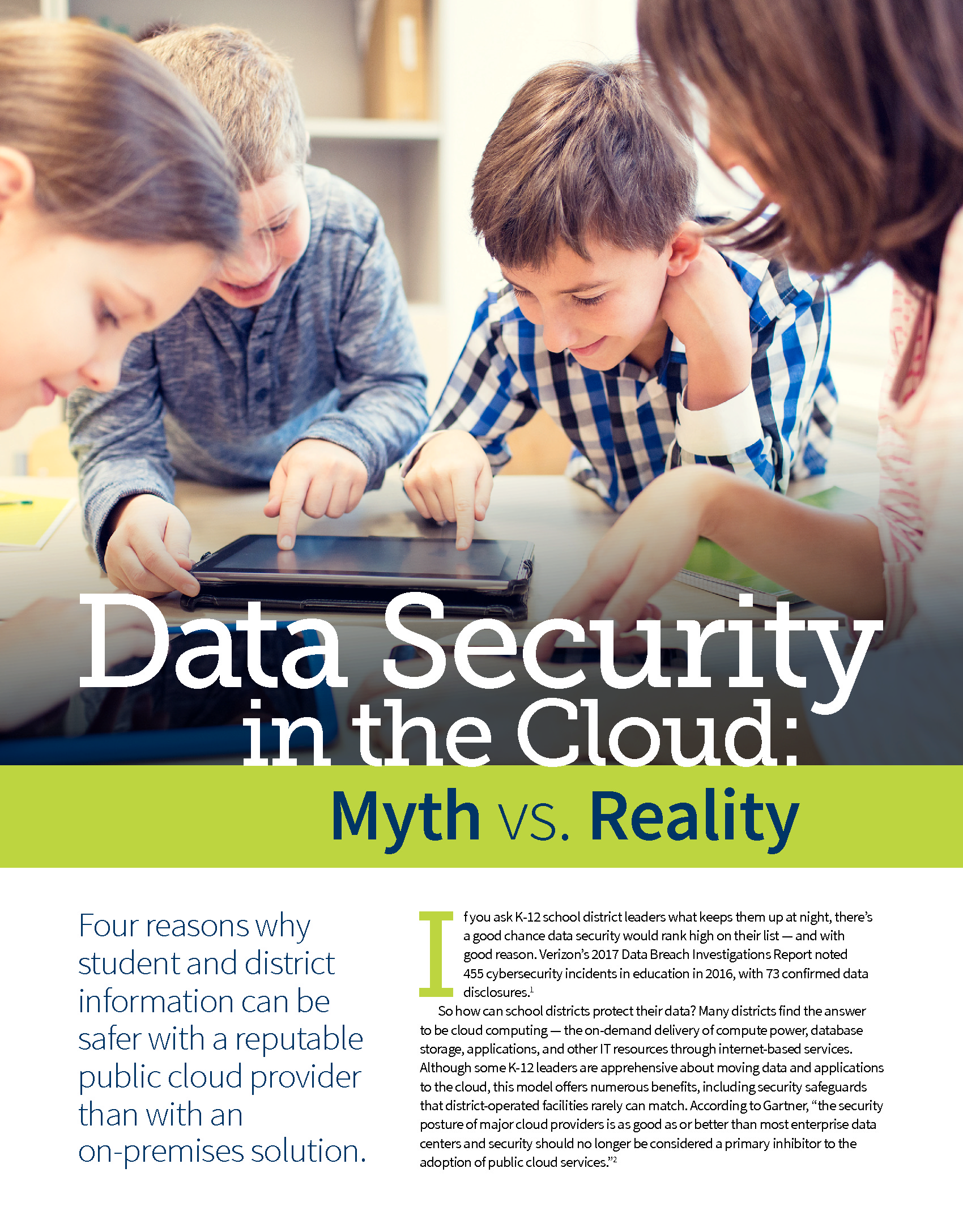 CDE - Amazon - Issue Brief - 180827 - Data Security in the Cloud