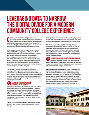 Leveraging Data to Narrow the Digital Divide for a Modern Community College Experience