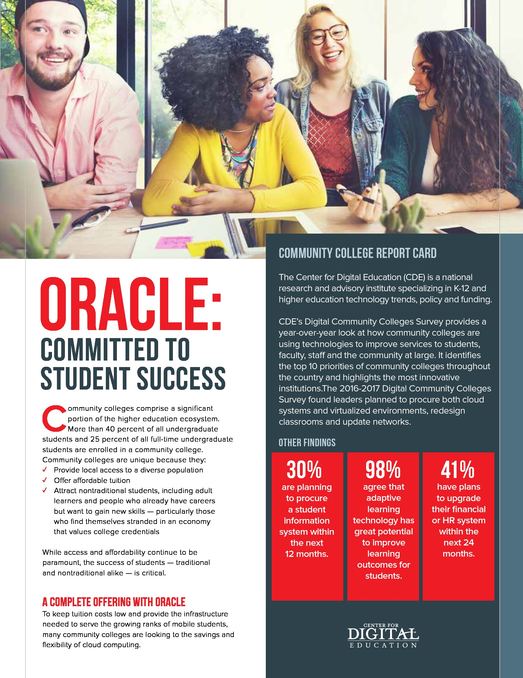 Oracle: Committed to Student Success