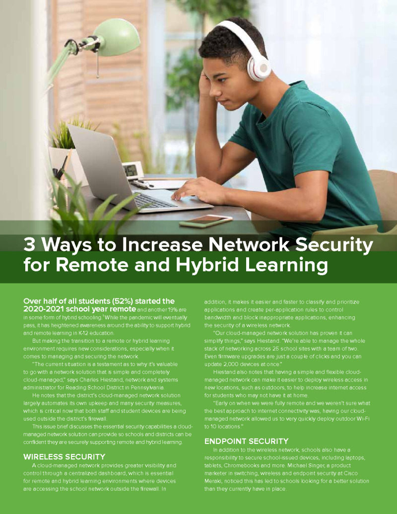 3 Ways to Increase Network Security for Remote and Hybrid Learning