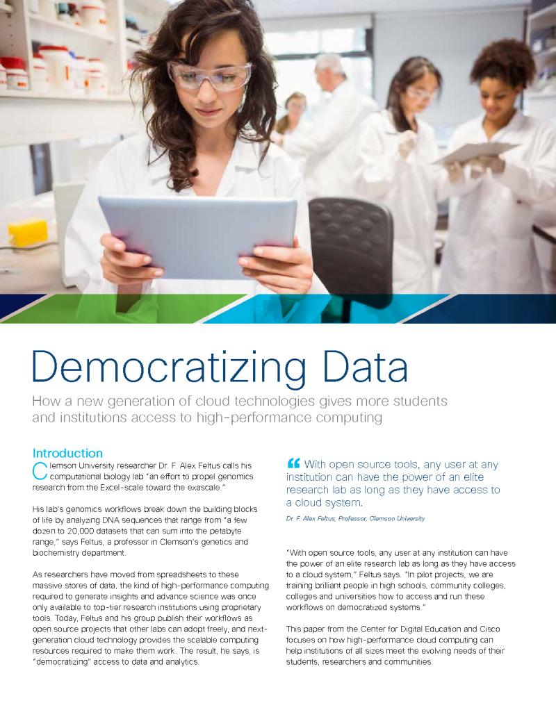 CDE - Cisco - Brief - 200623 - Democratizing Data in Higher Education
