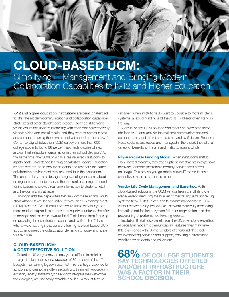 CDE - IronBow - Brief - 200512 - Cloud-Based UCM