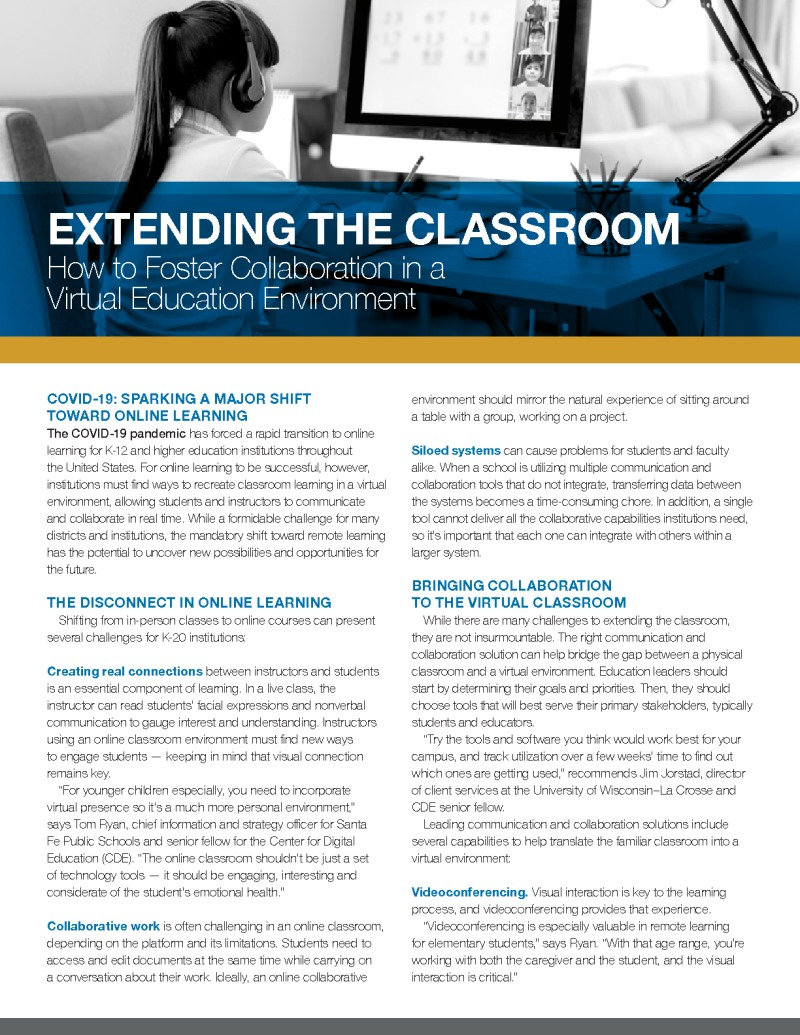 CDE - IronBow - Brief - 200512 - Extending the Classroom