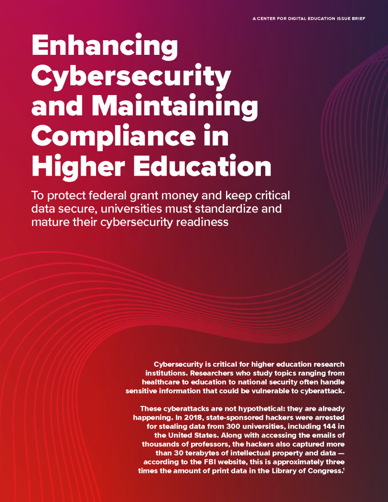 Enhancing Cybersecurity and Maintaining Compliance in Higher Education