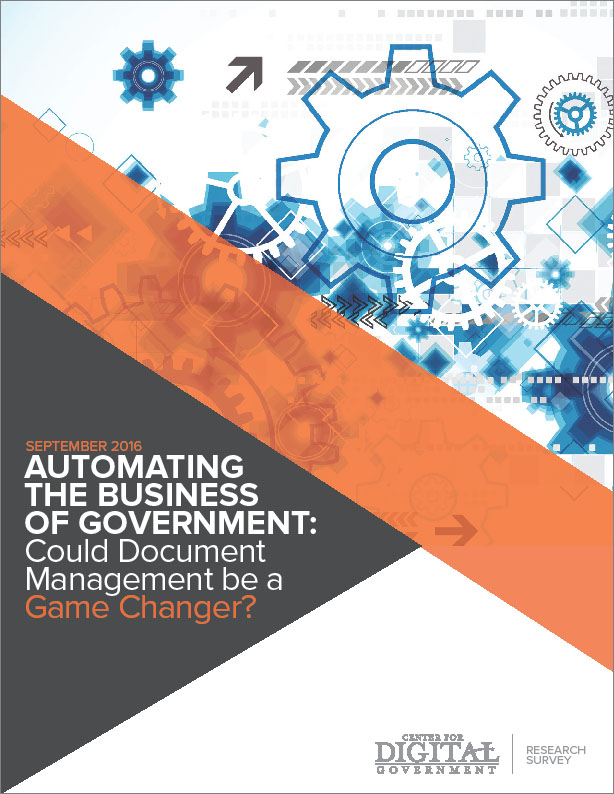 Automating the Business of Government: Could Document Management be a Game Changer?