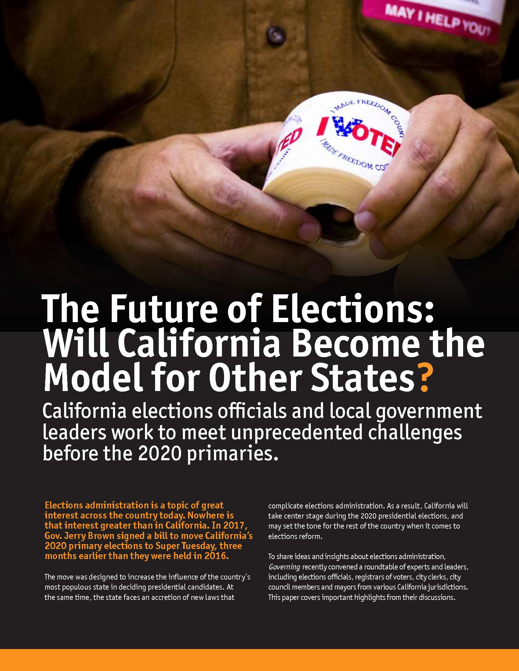 The Future of Elections: Will California Become the Model for Other States?