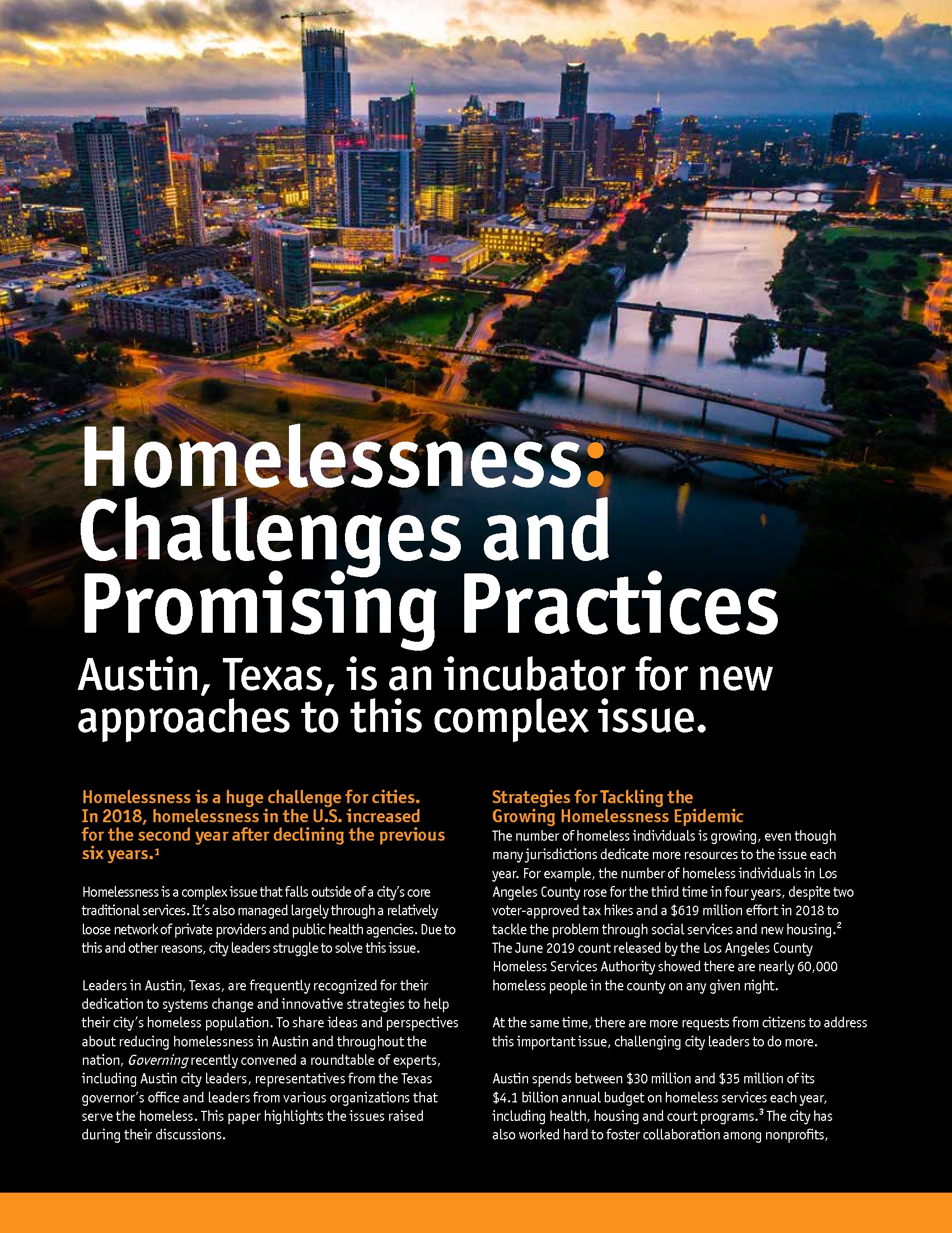 Homelessness: Challenges and Promising Practices