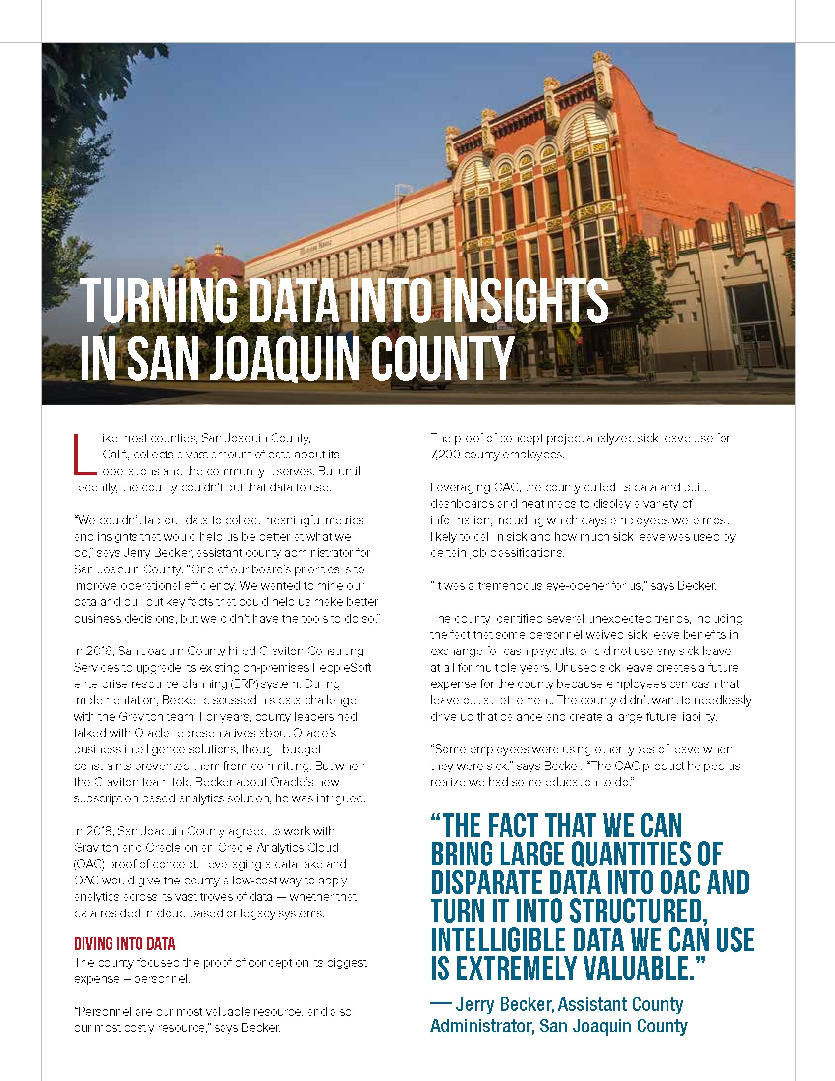 Turning Data Into Insights in San Joaquin County