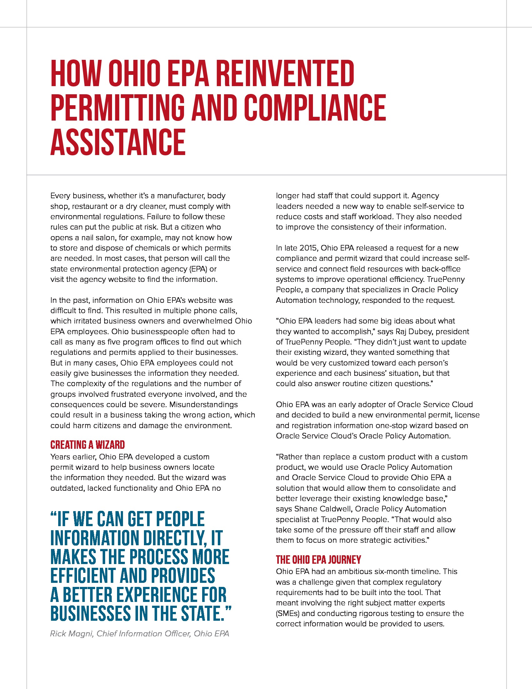 How Ohio EPA Reinvented Permitting and Compliance Assistance