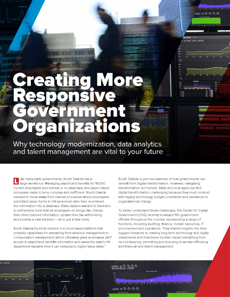 Creating More Responsive Government Organizations
