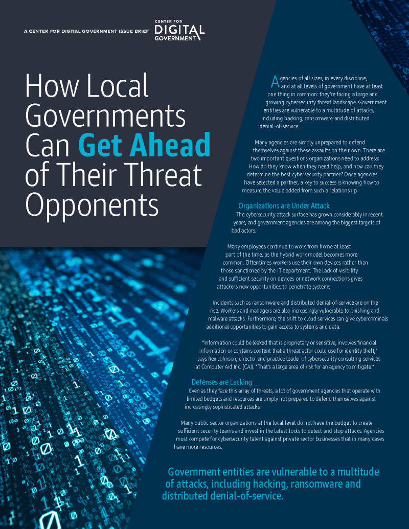 How Local Governments Can Get Ahead of Their Threat Opponents