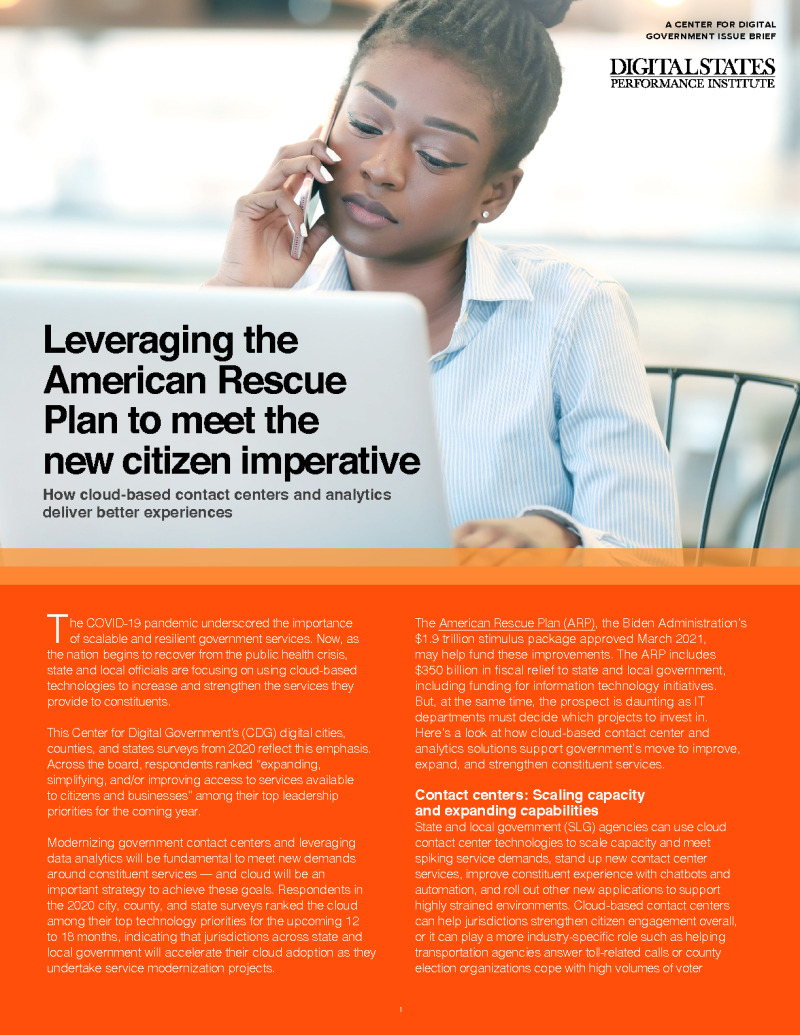 Leveraging the American Rescue Plan to Meet the New Citizen Imperative