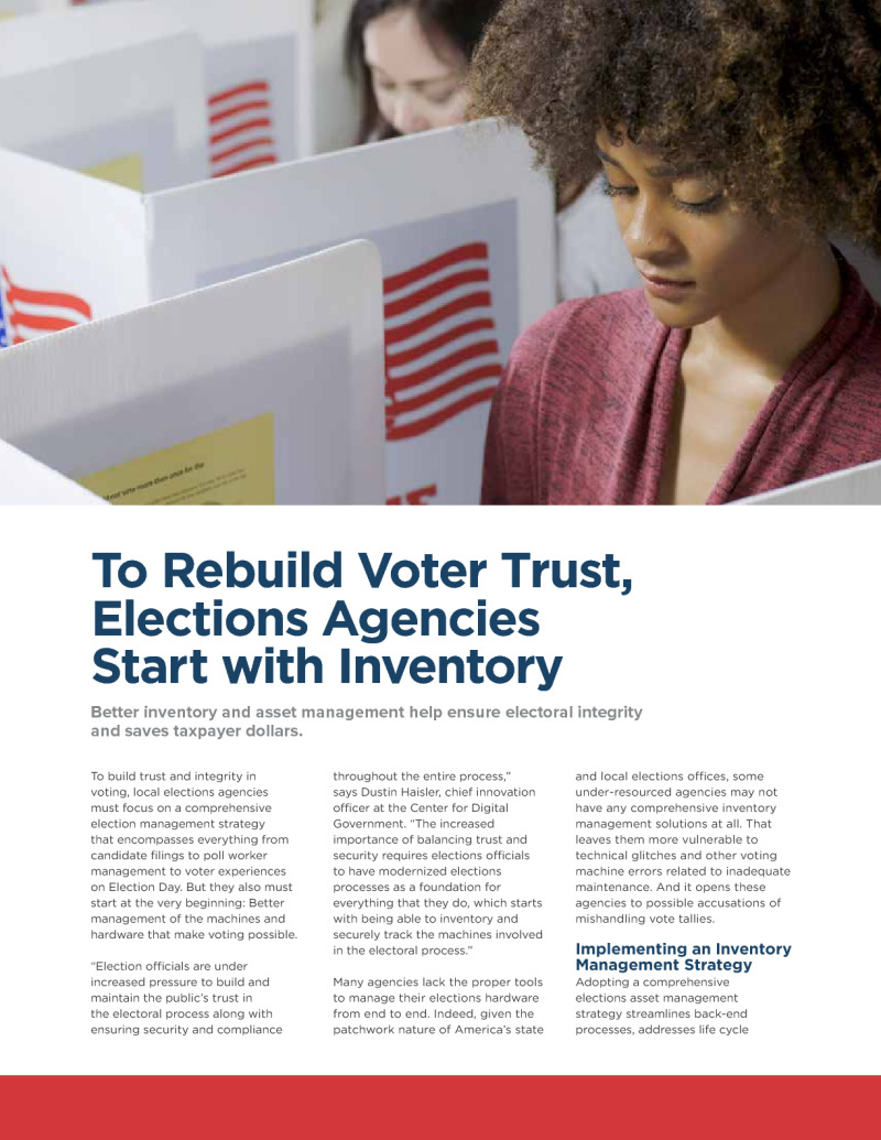 To Rebuild Voter Trust, Elections Agencies Start with Inventory