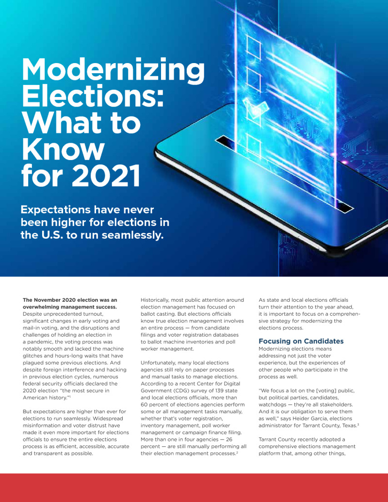 Key Steps for Modernizing Elections in 2021: Four Ways to Get Started