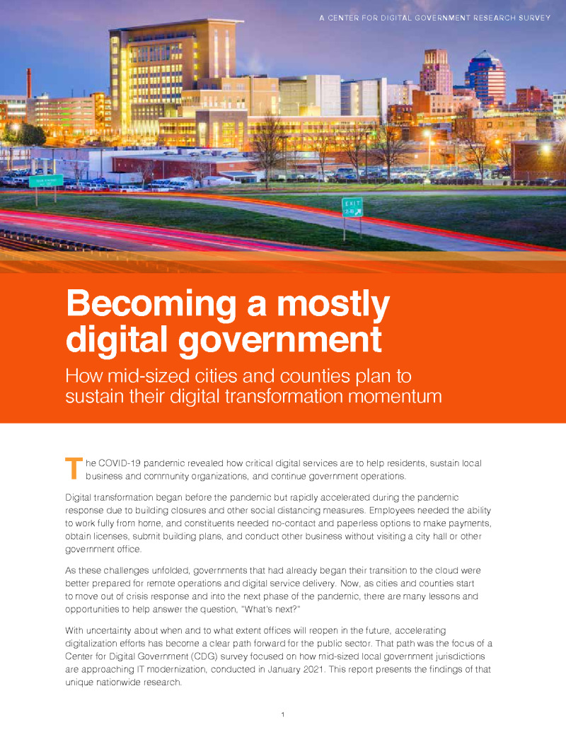Becoming a Mostly Digital Government