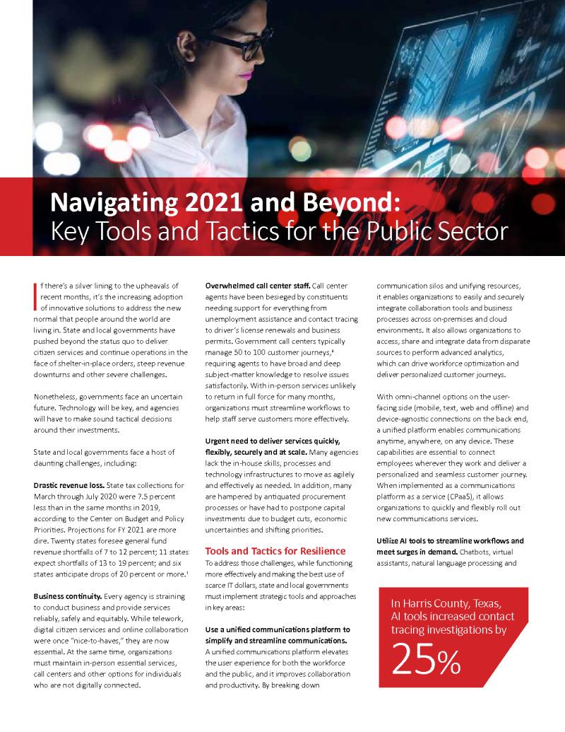 GT - Avaya - CDG Brief - 201224 - Navigating 2021 and Beyond