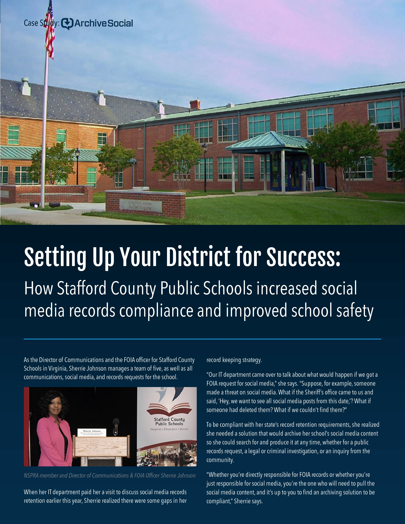 Stafford County Schools: Social Media Archiving