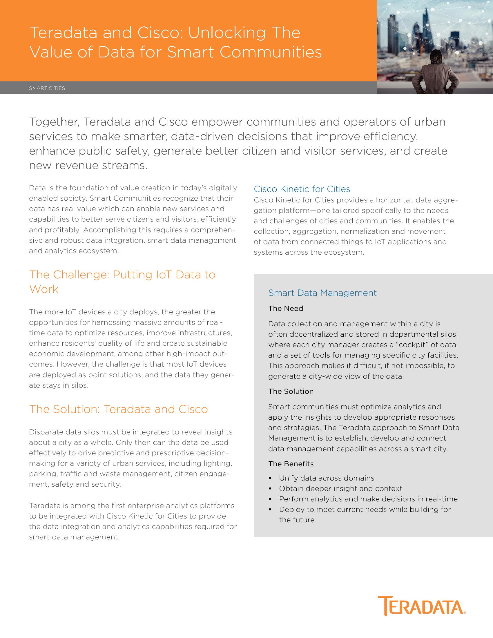 GT - Cisco - 2018 Channel Sponsorship - Unlocking The Value of Data