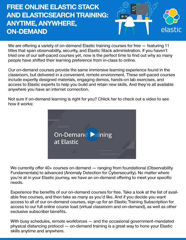 Free Online Elastic Training: Anytime, Anywhere, On-Demand