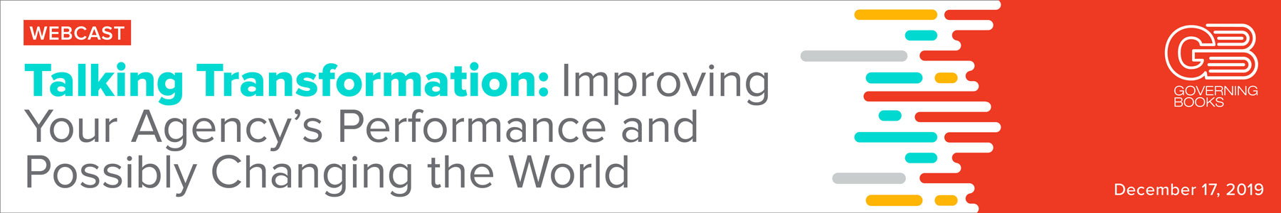 Talking Transformation: Improving Your Agency's Performance and Possibly Changing the World