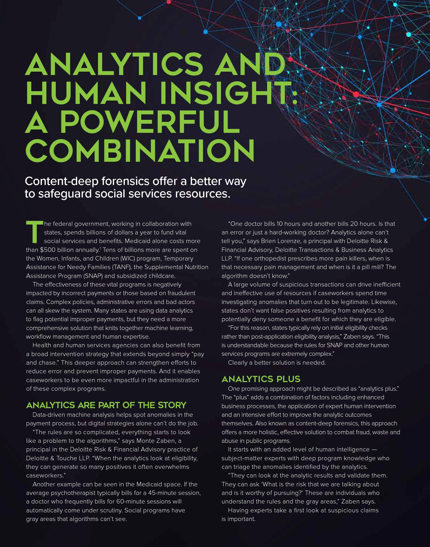 Analytics and Human Insight: A Powerful Combination