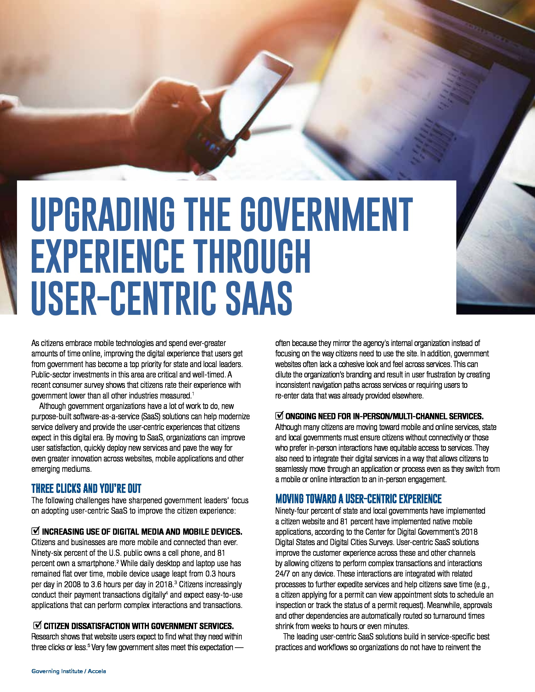 Upgrading the Government Through User-Centric SaaS