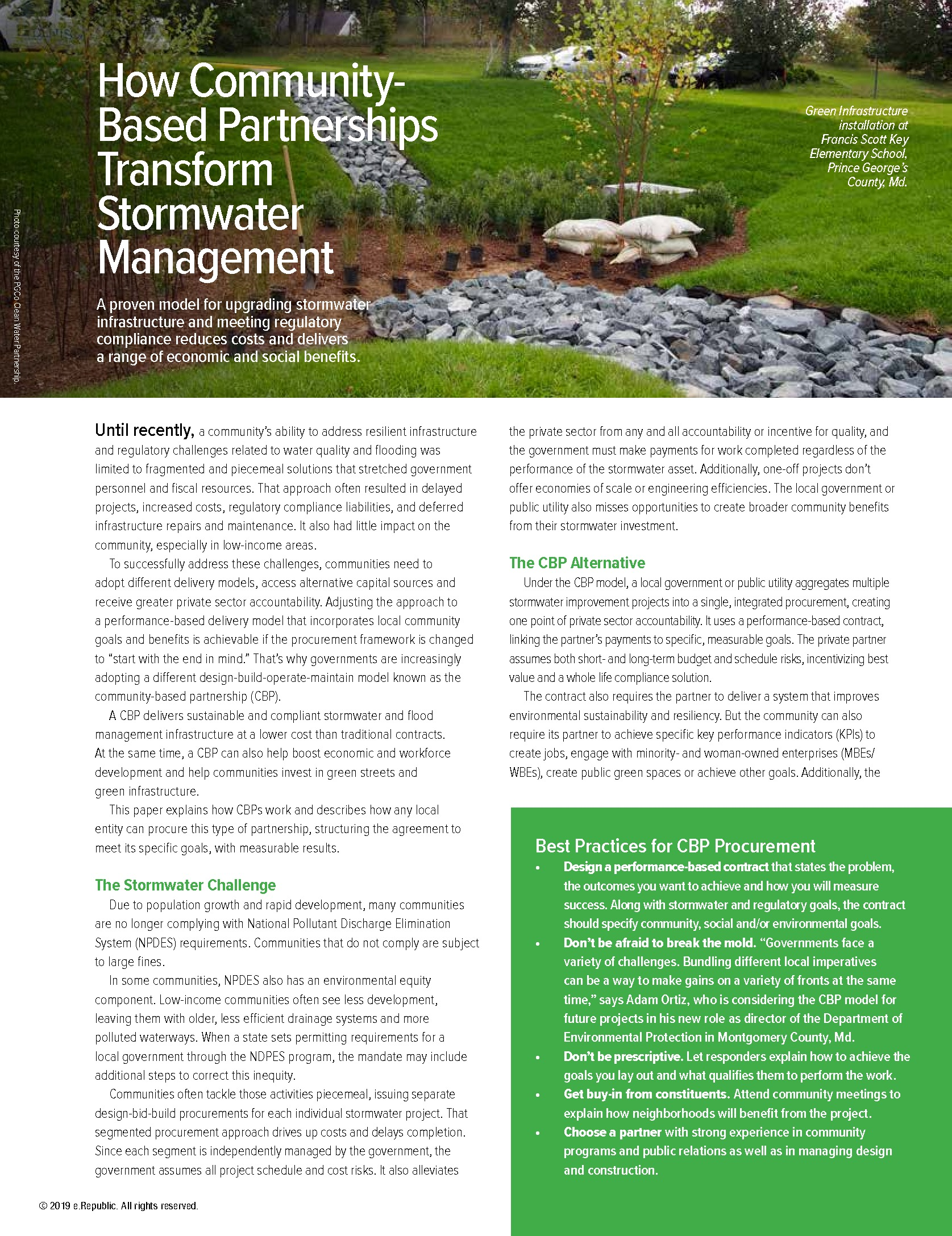 How Community-Based Partnerships Transform Stormwater Management