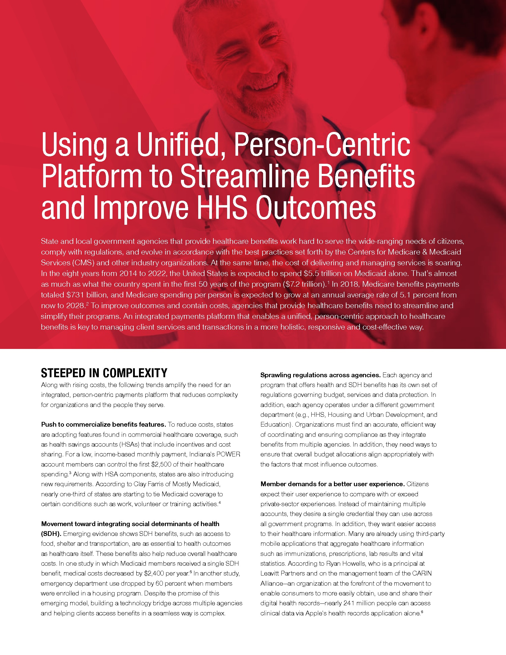 Using a Unified, Person-Centric Platform to Streamline Benefits and Improve HHS Outcomes