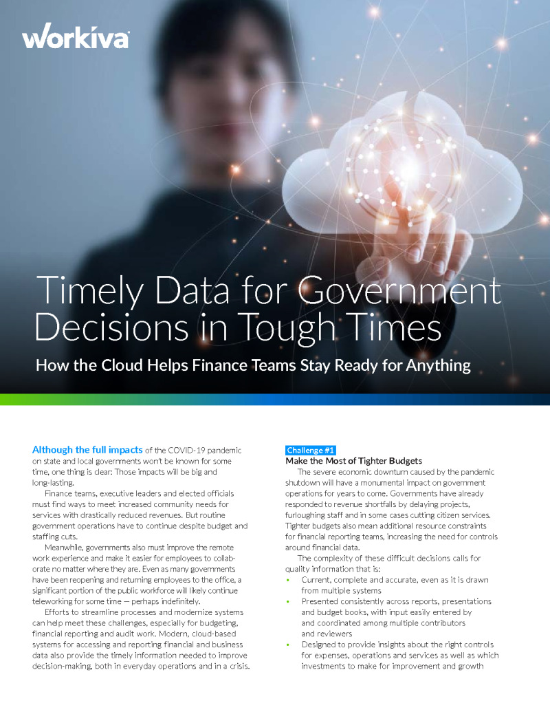 How Governments are Using Cloud to Transform Financial Reporting