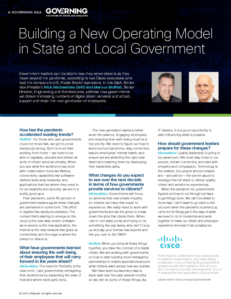 Building a New Operating Model in State and Local Government