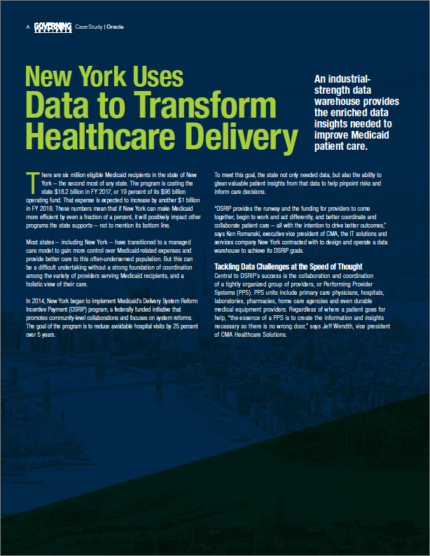 New York Uses Data to Transform Healthcare Delivery