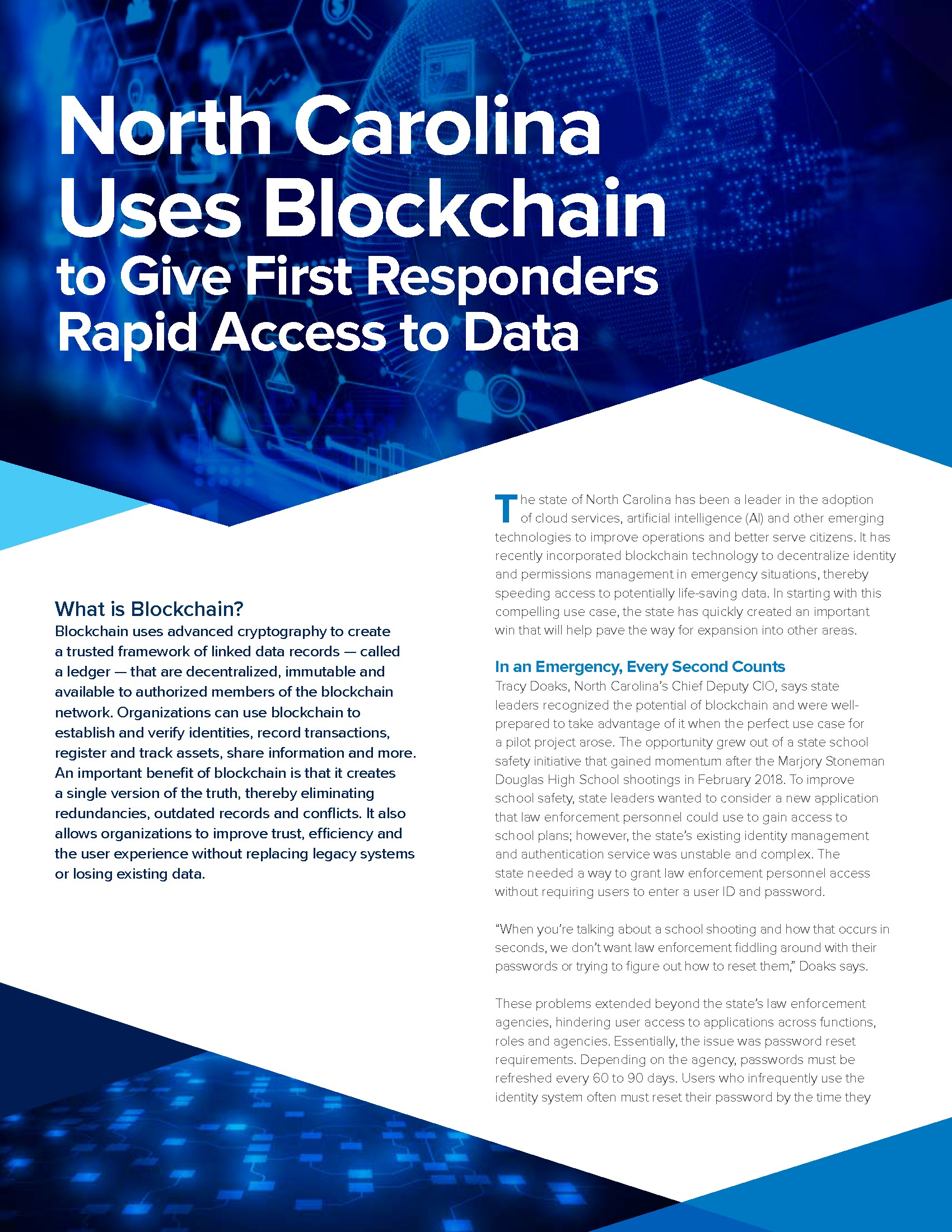 Paper: Paving the Way to Blockchain in State and Local Government