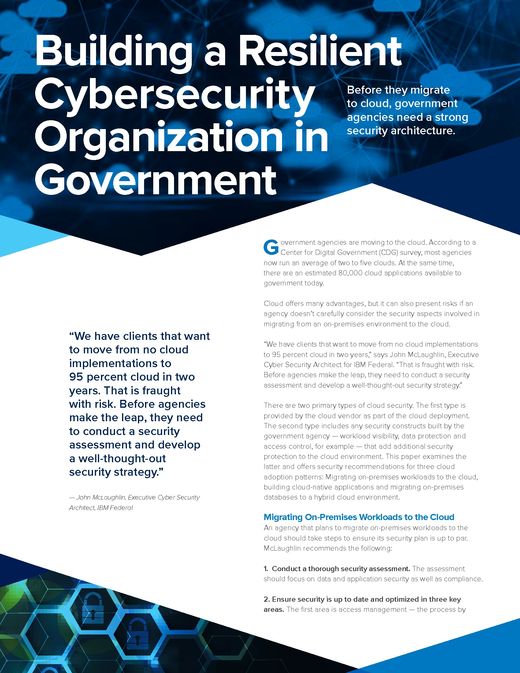 Paper: How to Build a Resilient Cybersecurity Organization in Government