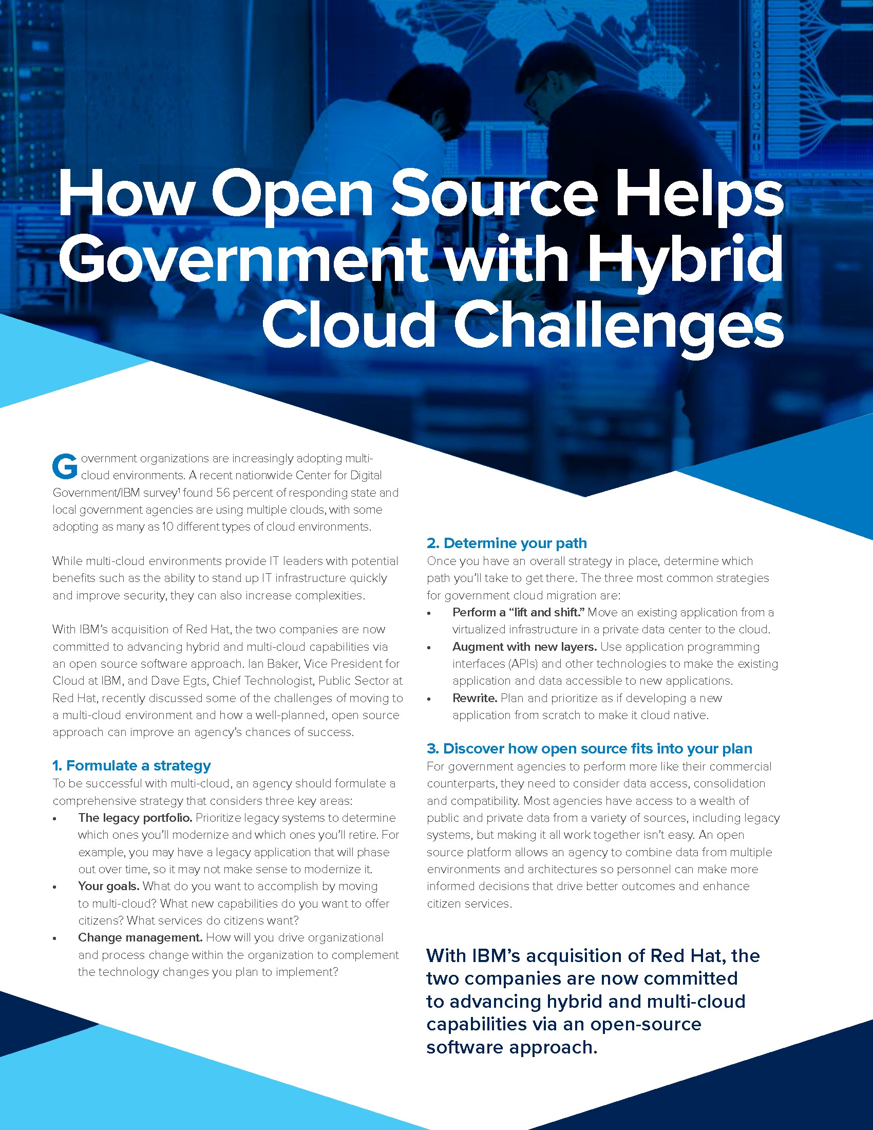 GT - IBM - Virtual Summit Issue Brief - 191118 - How Open Source Helps