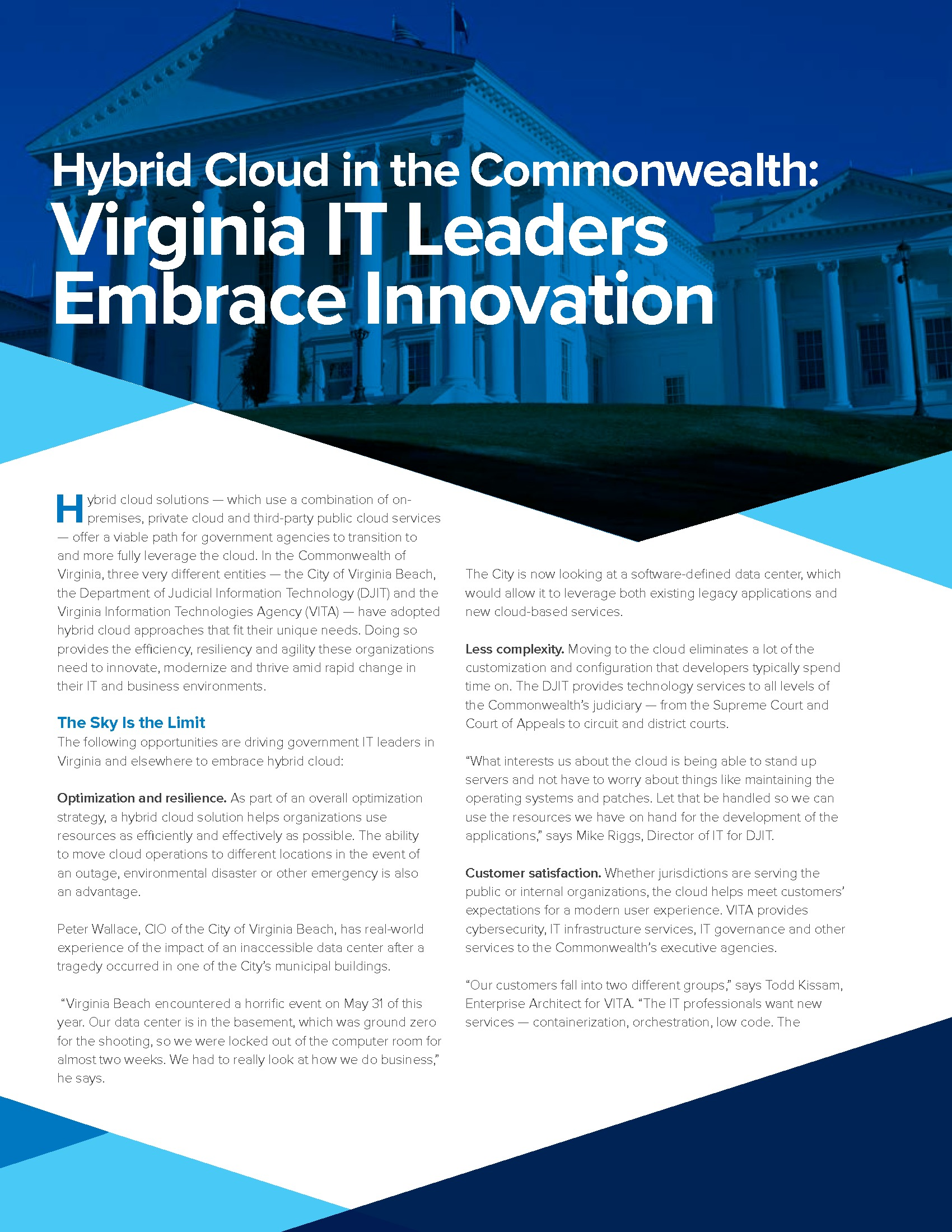 Paper: Hybrid Cloud in the Commonwealth: Virginia IT Leaders Embrace Innovation