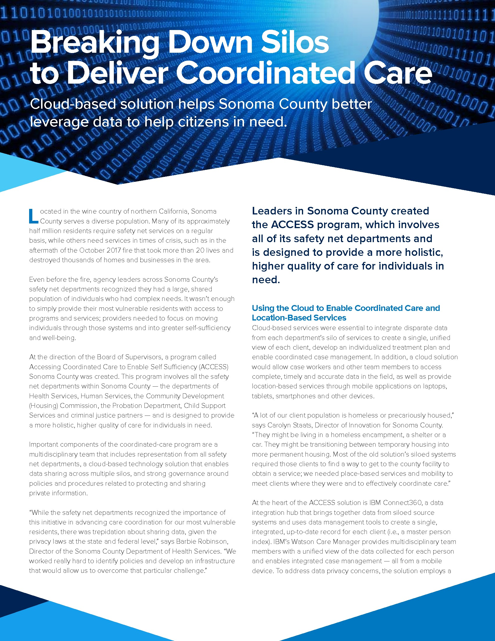 Paper: Breaking Down Silos to Deliver Coordinated Care