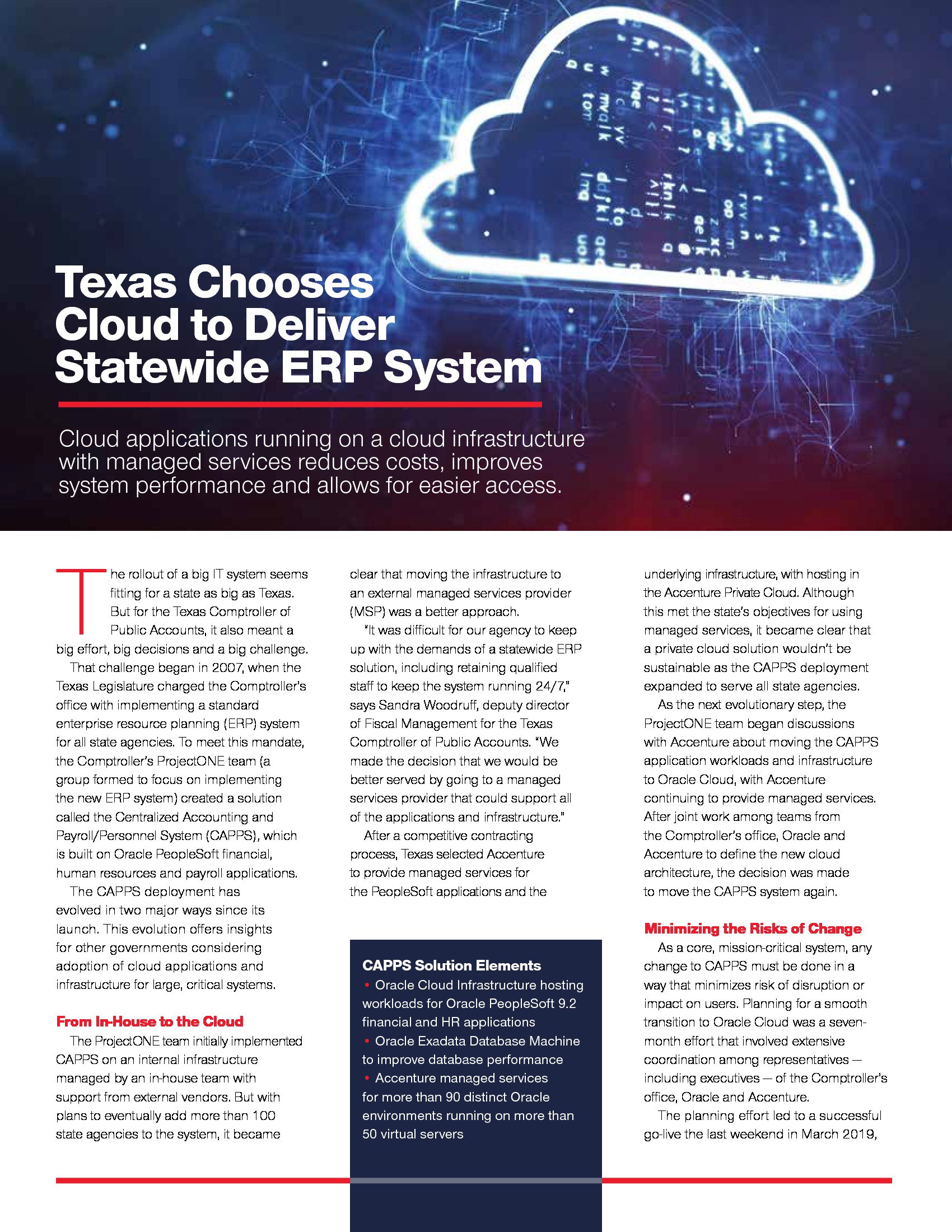 Texas Chooses Cloud to Deliver Statewide ERP System