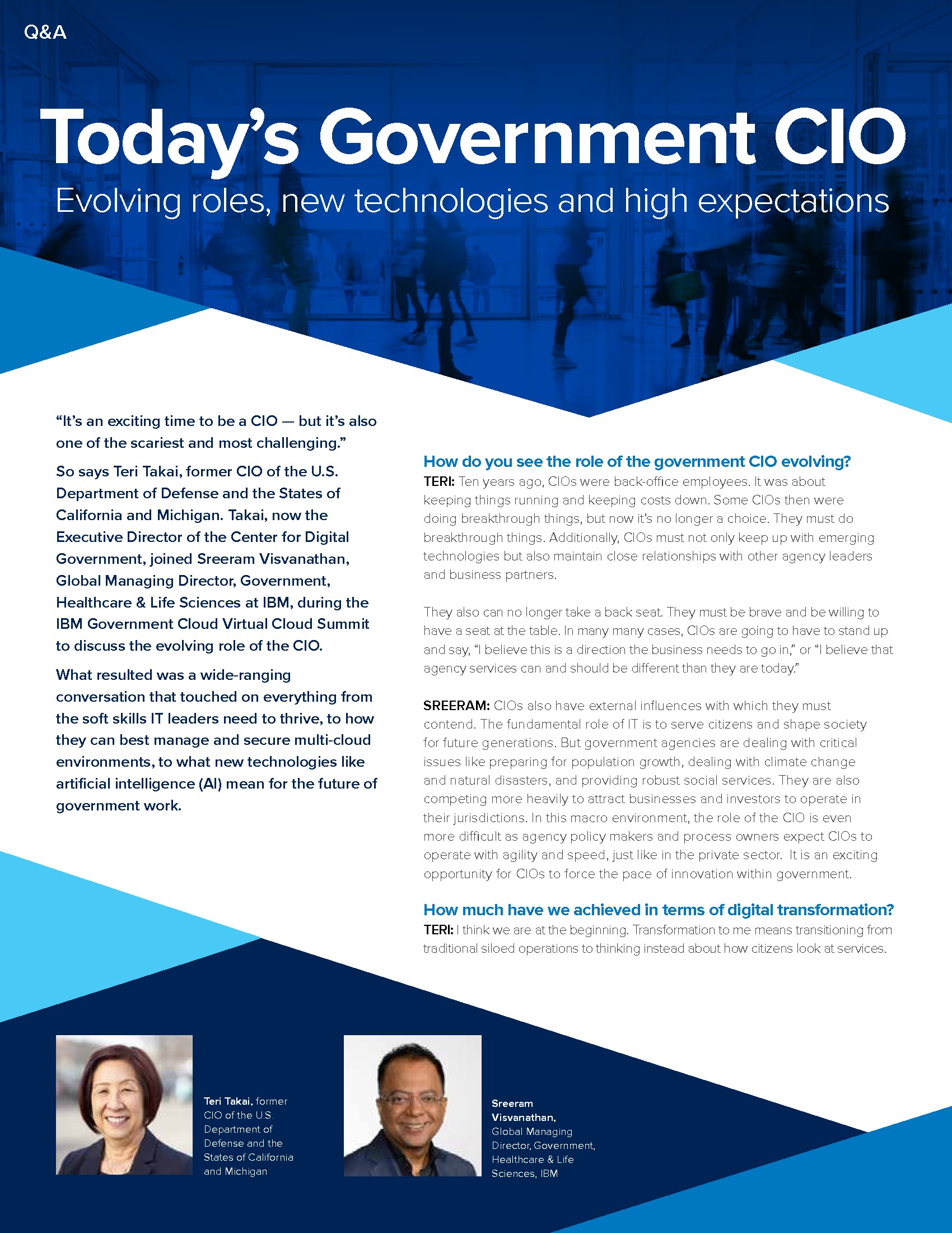 Paper: The Evolving Role of Today's Government CIO