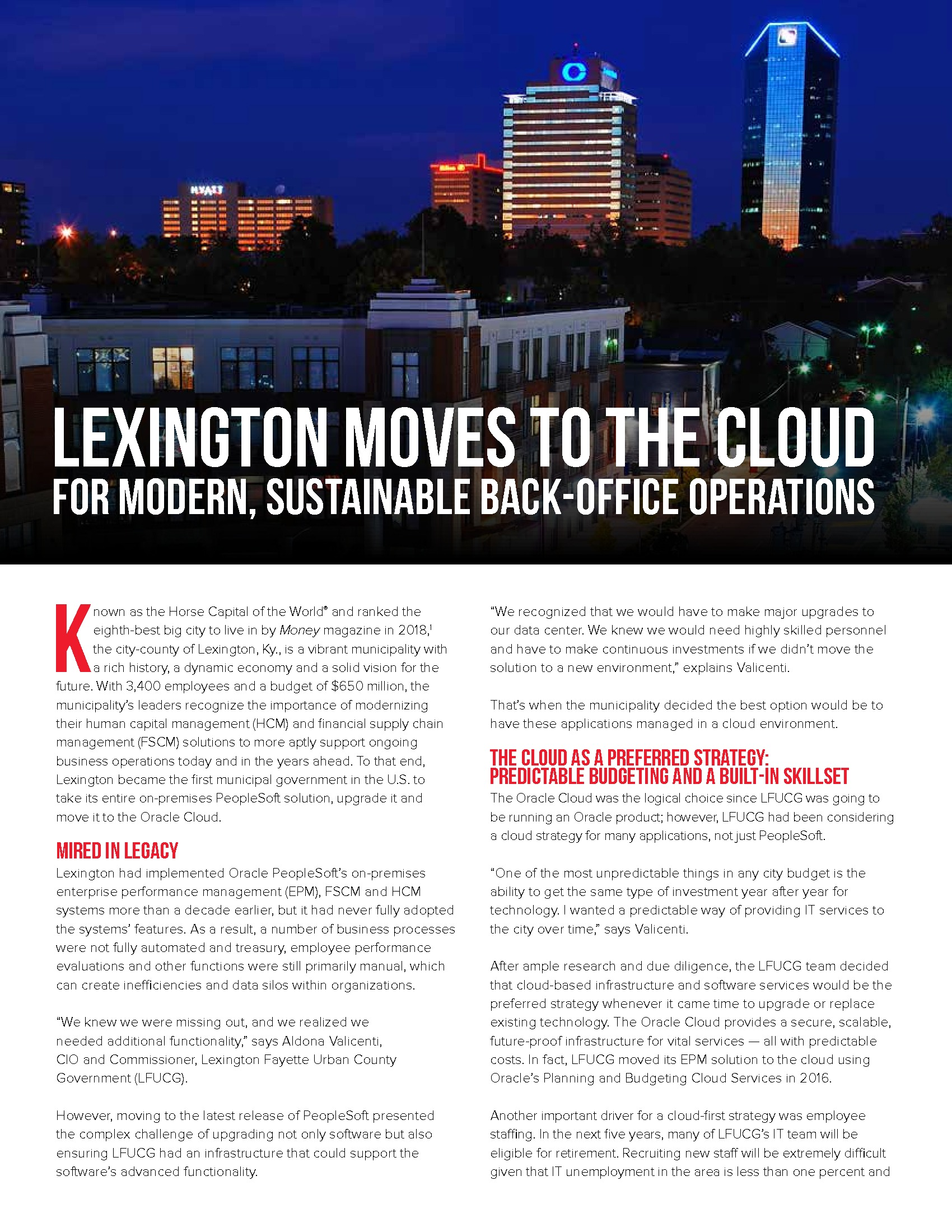 Lexington Moves to the Cloud for Modern, Sustainable Back-Office Operations