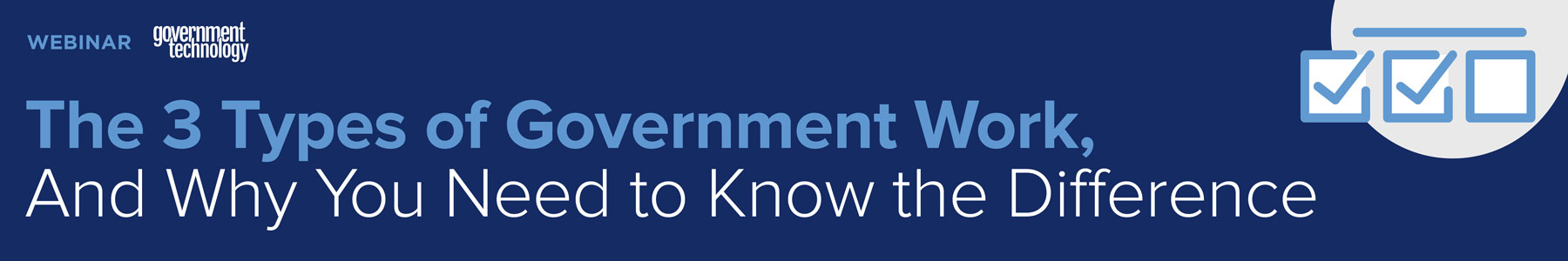 The 3 Types of Government Work, And Why You Need to Know the Difference