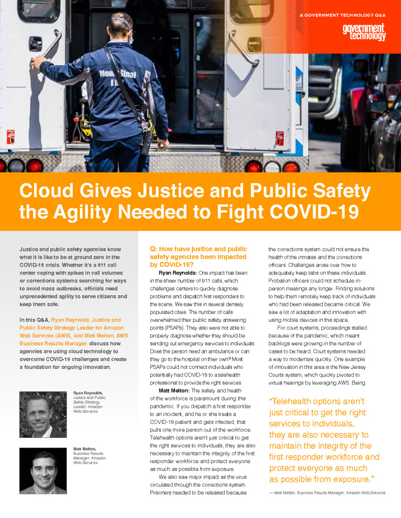 Cloud Gives Justice and Public Safety the Agility Needed to Fight COVID-19