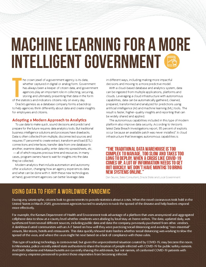 Machine Learning for a More Intelligent Government