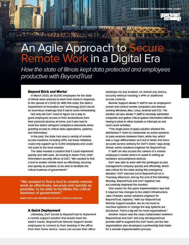 An Agile Approach to Secure Remote Work in a Digital Era