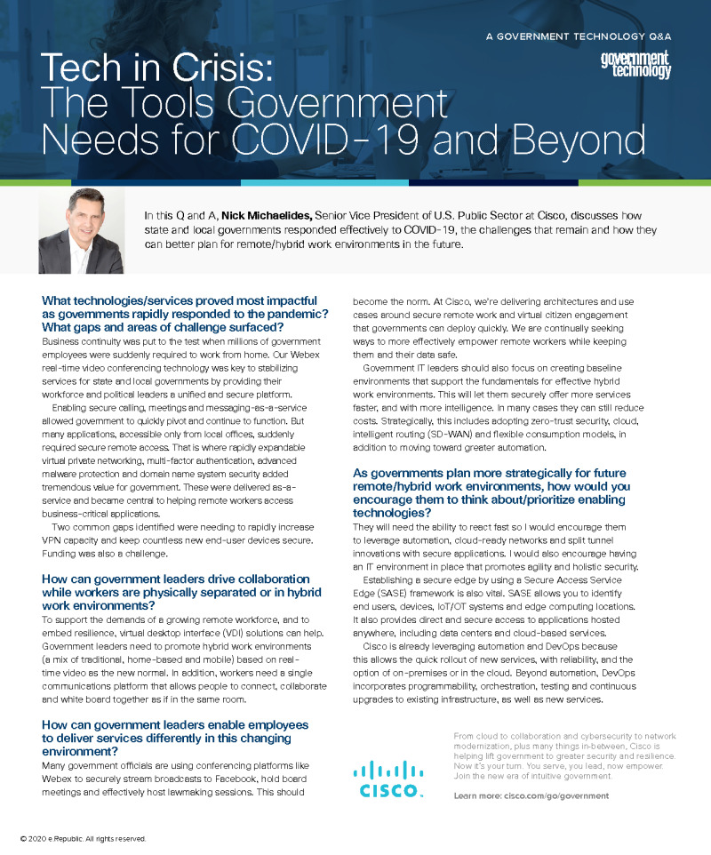 The Tools Government Needs for COVID-19 and Beyond