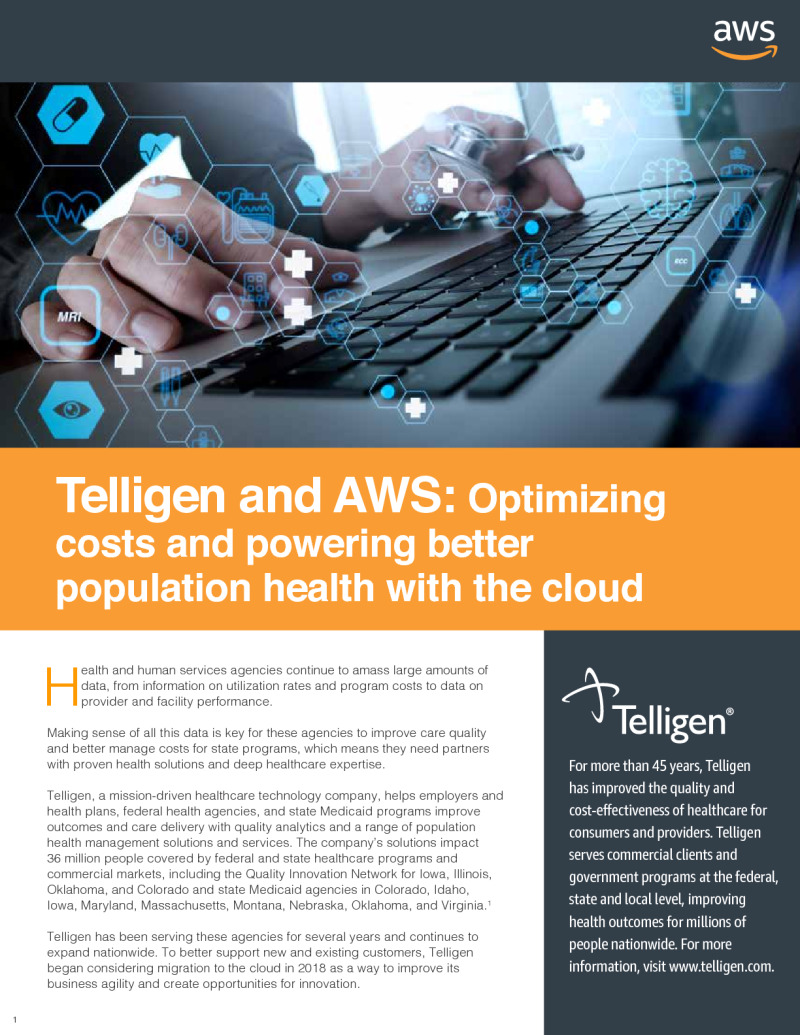 Optimizing Costs and Powering Better Population Health with the Cloud